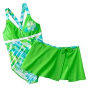 ZeroXposur Abstract One-Piece Swimsuit and Cover-Up Set - Girls Plus