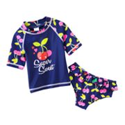 Carter's Cherry 2-pc. Rash Guard Set - Baby