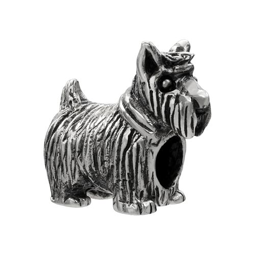 Individuality Beads Sterling Silver Scottie Dog Bead