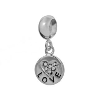Individuality Beads Sterling Silver Crystal Heart Love Charm