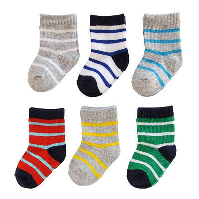 Carter's 6-pk. Striped Socks - Baby