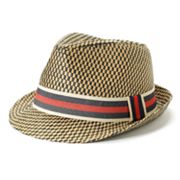 Helix Checker Woven Fedora - Men