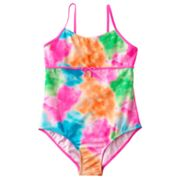 SO Watercolor One-Piece Swimsuit - Girls Plus
