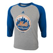 adidas New York Mets Raglan Tee - Boys 8-20