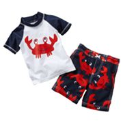 Carter's Crab 2-pc. Rash Guard Set - Baby