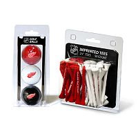 Team Golf Detroit Red Wings Ball & Tee Set