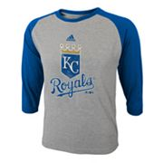 adidas Kansas City Royals Raglan Tee - Boys 8-20
