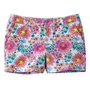SO Floral Chino Shorts - Girls Plus