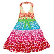 Blueberi Boulevard Dotted Tiered Halter Sundress - Baby