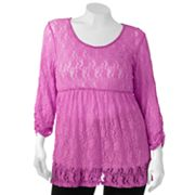 Weavers Girl Lace Top - Juniors' Plus