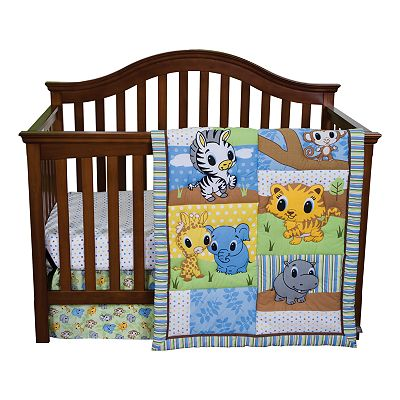 Trend Lab 3-pc. Riley Tiger and Friends Crib Set