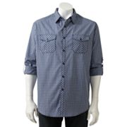 Michael Brandon Plaid Woven Casual Button-Down Shirt - Big and Tall