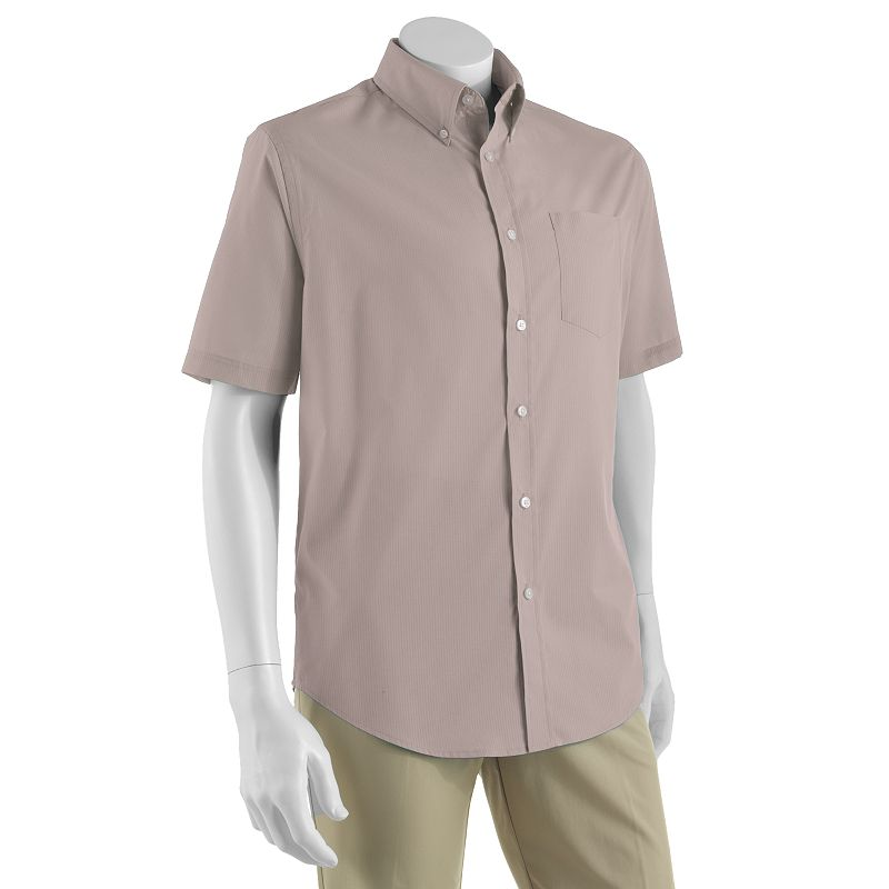 Croft & Barrow Solid Easy-Care Casual Button-Down Shirt Size S (Beige/Khaki)