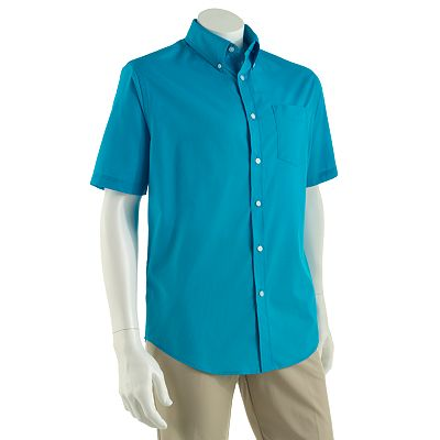 Croft and Barrow Solid Easy-Care Casual Button-Down Shirt