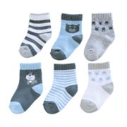 Carter's 6-pk. Animal and Striped Socks - Baby