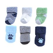 Carter's 6-pk. Stripe and Solid Socks - Baby