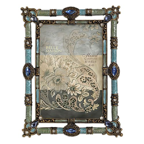 "Enchante Accessories Jeweled 4"" x 6"" Frame"