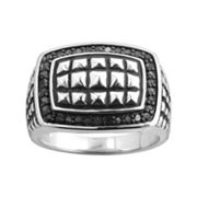 Sterling Silver .35-ct. T.W. Black Diamond Ring - Men