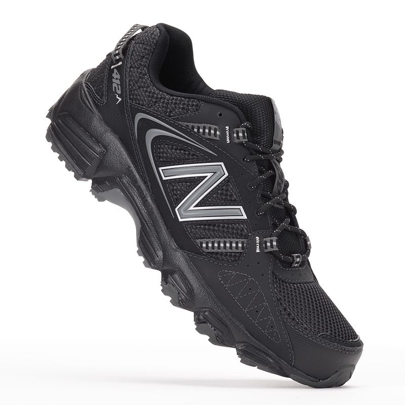 New Balance Black 412 Extra Wide Trail Running Shoes - Men