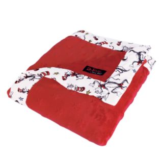 """Dr. Seuss """"The Cat in the Hat"""" Red & White Receiving Blanket by Trend Lab"""