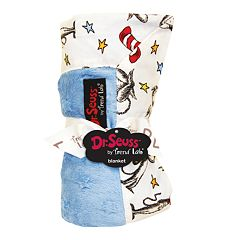 Dr. Seuss 'The Cat in the Hat' Blue & White Receiving Blanket by Trend Lab