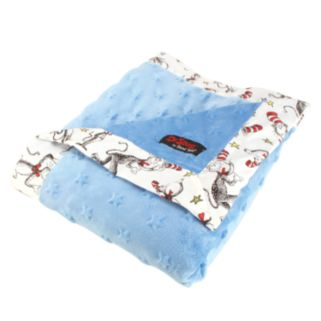 """Dr. Seuss """"The Cat in the Hat"""" Blue & White Receiving Blanket by Trend Lab"""