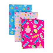 Trend Lab 3-pk. Candy Flannel Receiving Blankets