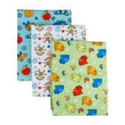 Trend Lab 3-pk. Animals Flannel Receiving Blankets