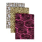 Trend Lab 3-pk. Animal Flannel Receiving Blankets