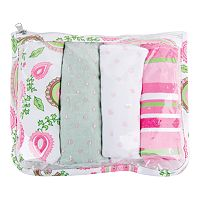 Trend Lab 5 pc Paisley Burp Cloth Set