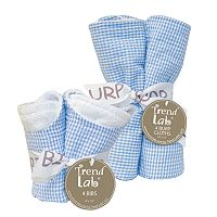 Trend Lab 8 pc Seersucker Bib & Burp Cloth Set