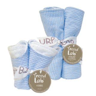 Trend Lab 8-pc. Seersucker Bib and Burp Cloth Set