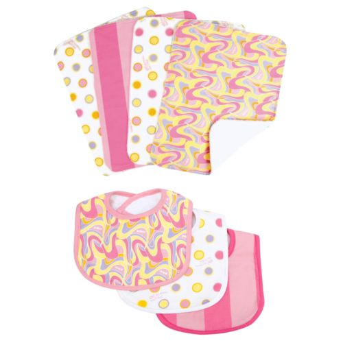 Dr. Seuss Oh The Places You'll Go 7-pc. Bib and Burp Cloth Set by Trend Lab
