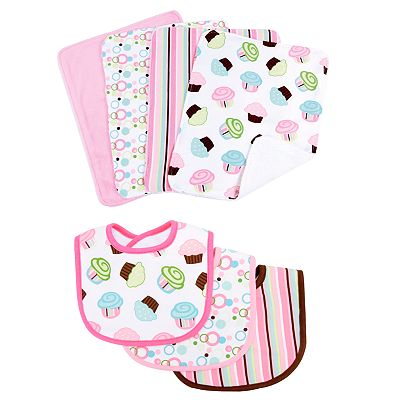 Trend Lab 7-pc. Cupcake Bib and Burp Cloth Set