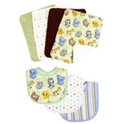 Trend Lab 7-pc. Chibi Zoo Bib and Burp Cloth Set