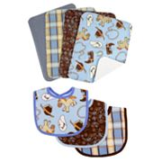 Trend Lab 7-pc. Cowboy Baby Bib and Burp Cloth Set