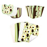 Trend Lab 8-pc. Giggles Bib, Burp Cloth and Bin Set