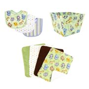 Trend Lab 8-pc. Chibi Zoo Bib, Burp Cloth and Bin Set