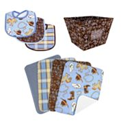 Trend Lab 8-pc. Cowboy Baby Bib, Burp Cloth and Bin Set