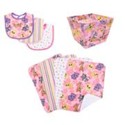 Trend Lab 8-pc. Lola Fox Bib, Burp Cloth and Bin Set