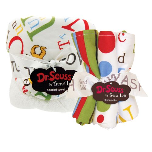 Dr. Seuss ABC 6-pc. Hooded Towel and Wash Cloth Set by Trend Lab