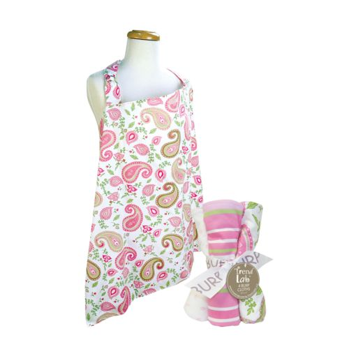 Trend Lab 5-pc. Paisley Nursing Cover and Burp Cloth Set