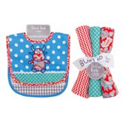 Trend Lab 5-pc. Mommy's Little MonsterBib and Burp Cloth Set