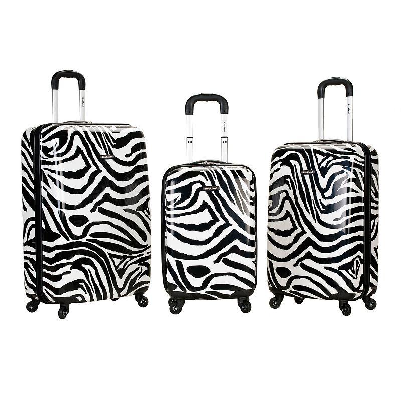 Rockland 3-Piece Hardside Spinner Luggage Set, Black