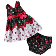 Bonnie Jean Cherry Cross-Back Sundress - Baby