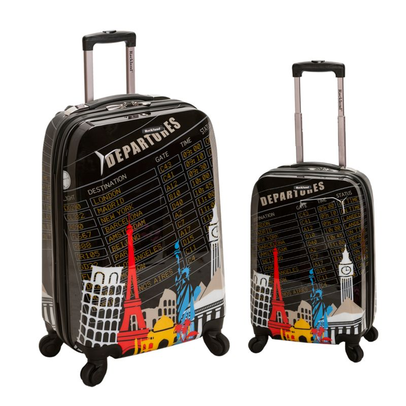 Rockland Graphic 2-Piece Hardside Spinner Luggage Set, Multicolor