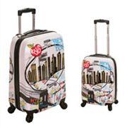 Rockland Graphic 2 pc Hardside Spinner Luggage Set