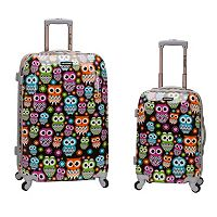 Rockland Graphic 2 pc Hardside Spinner Luggage Set