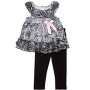 Rare Editions Animal Top and Leggings Set - Baby