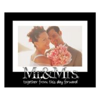 "Malden ""Mr. & Mrs."" Expressions 4"" x 6"" Matted Frame"